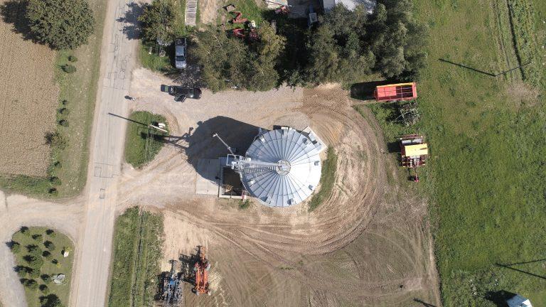 Vilkaviškio raj., džiovinantis grūdų bokštas 1x780m3